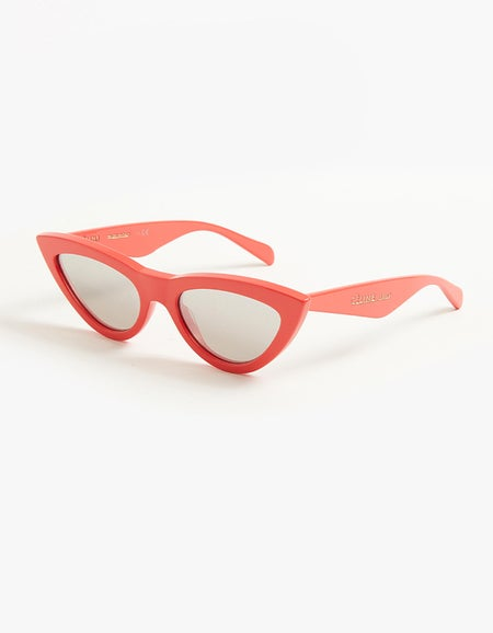 40019I - Shiny Coral/Smoke Silver Mirror