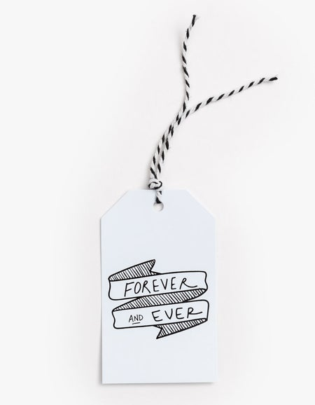Forever and Ever Gift Tag - White