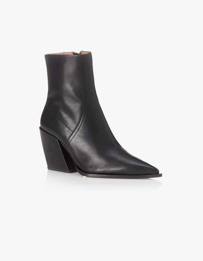 Knight Boot - Black Burnished