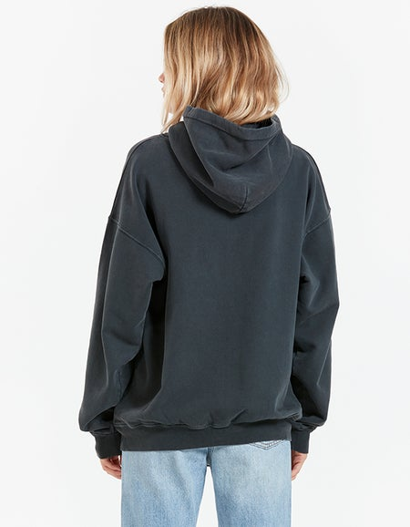Rowe Hoodie Eagle - Washed Black