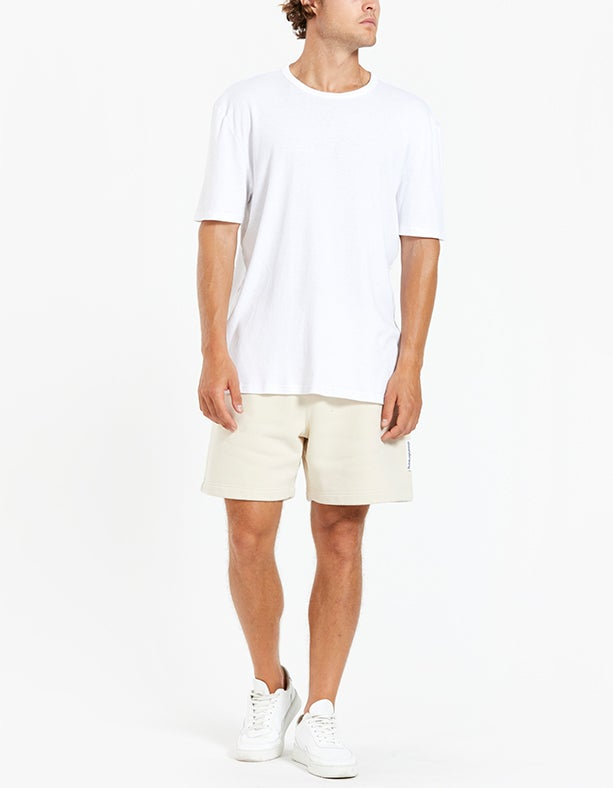 Mens Garment Washed Terry Shorts - Turtle Dove