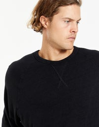 Mens Slub Rib Raglan Sweat - Canvas