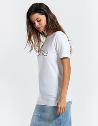 Bassike x Superette Wide Heritage Print S/S T-Shirt - White