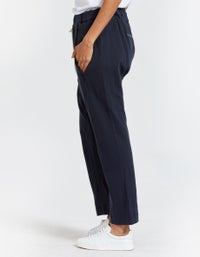 Womens French Terry Relaxed Pant II - Navy Blue