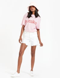 Bassike x Superette Classic Vintage Bassike T-Shirt - Pigment Pink
