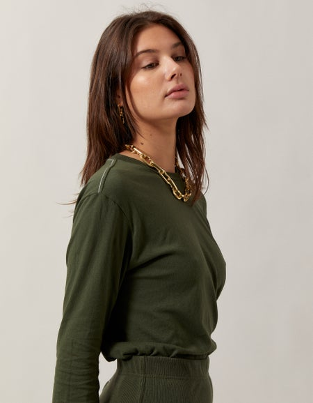 Womens Slim Fit Classic L/S T-Shirt - Canyon Clay