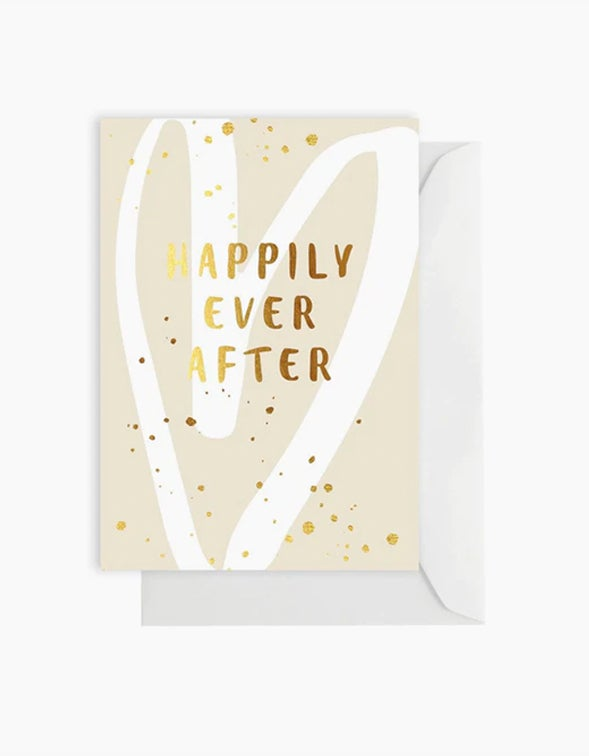 Happily Ever After Card - Ivory
