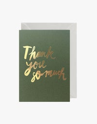 Thank You So Much Card - Green