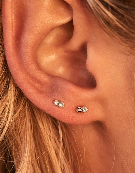 Air Stud Earrings - Gold Plated