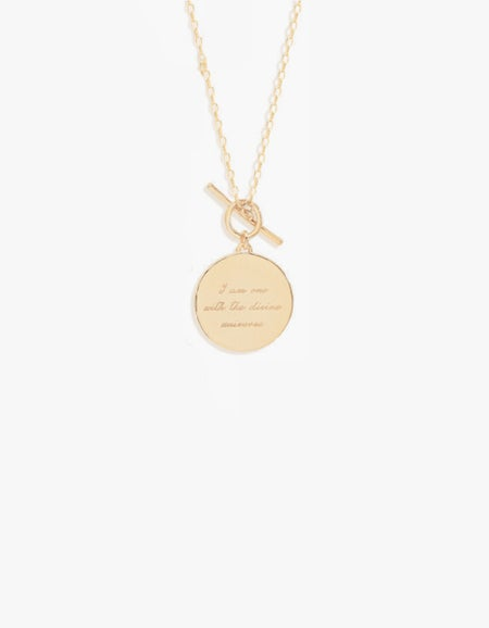 A Thousand Petals Fob Necklace - Gold Plated