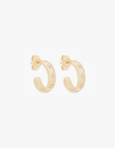 Align Your Soul Hoops - Gold Plated