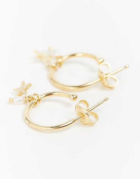 By Charlotte x Superette Be Your Own Light Hoops - Gold