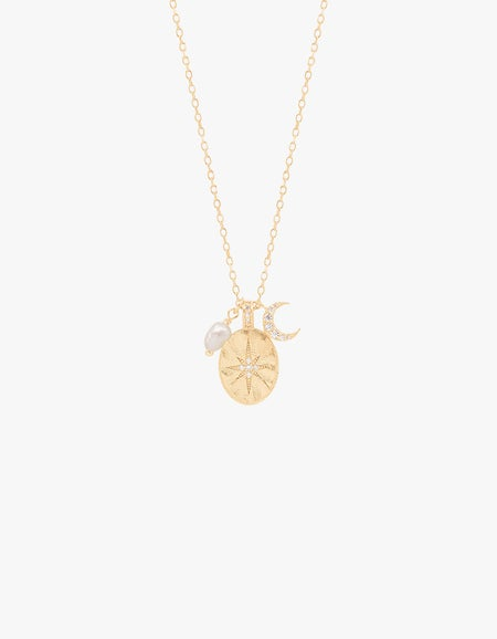 Dream Weaver Necklace - Gold Plated