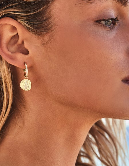 Goddess of Air Hoops - Gold Plated