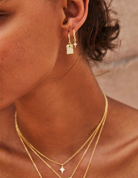 Magic of You Hoops - Gold Plated