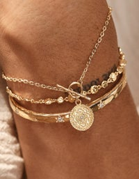 Path To Harmony Bracelet - Gold Plated