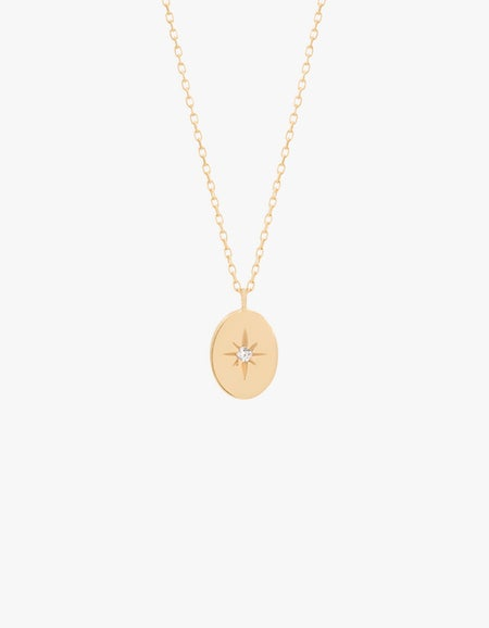 Shine Your Light Necklace - 14K Gold