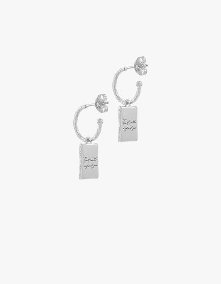 Magic of You Hoops - Sterling Silver