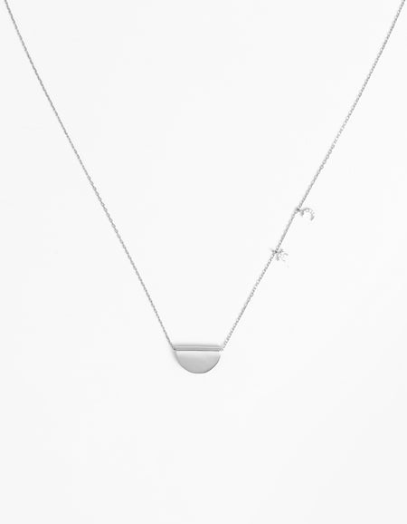 Superette x By Charlotte Moon Star Long Necklace - Silver