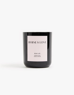 Glass Candle Green Leaf, Rose & Musk