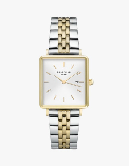The Boxy Watch - Silver/Gold Duo