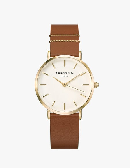The West Village Watch - Gold/Tan Leather