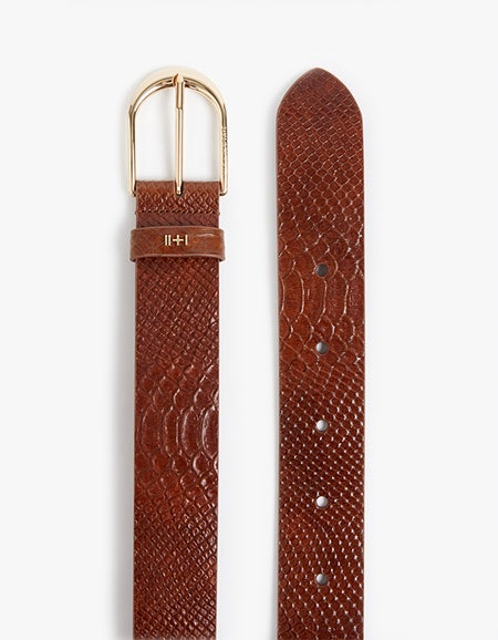 Dylan Kain x Superette The Nika Belt - Caramel Python/Light Gold