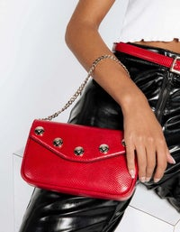 The Ruby Convertible Bag - Red/Light Gold