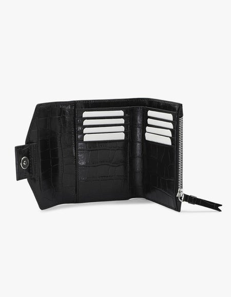 The Helena Wallet - Black/Silver