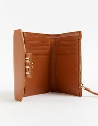 The Helena Wallet - Tan/Light Gold