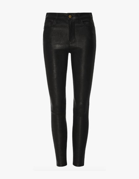 Le Skinny Leather Pant - Washed Noir