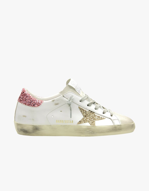 Super-Star Sneaker - Ice/White/Gold/Salmon Pink