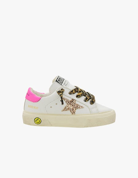 Kids May Sneaker - White/Peach/Pink Fluo