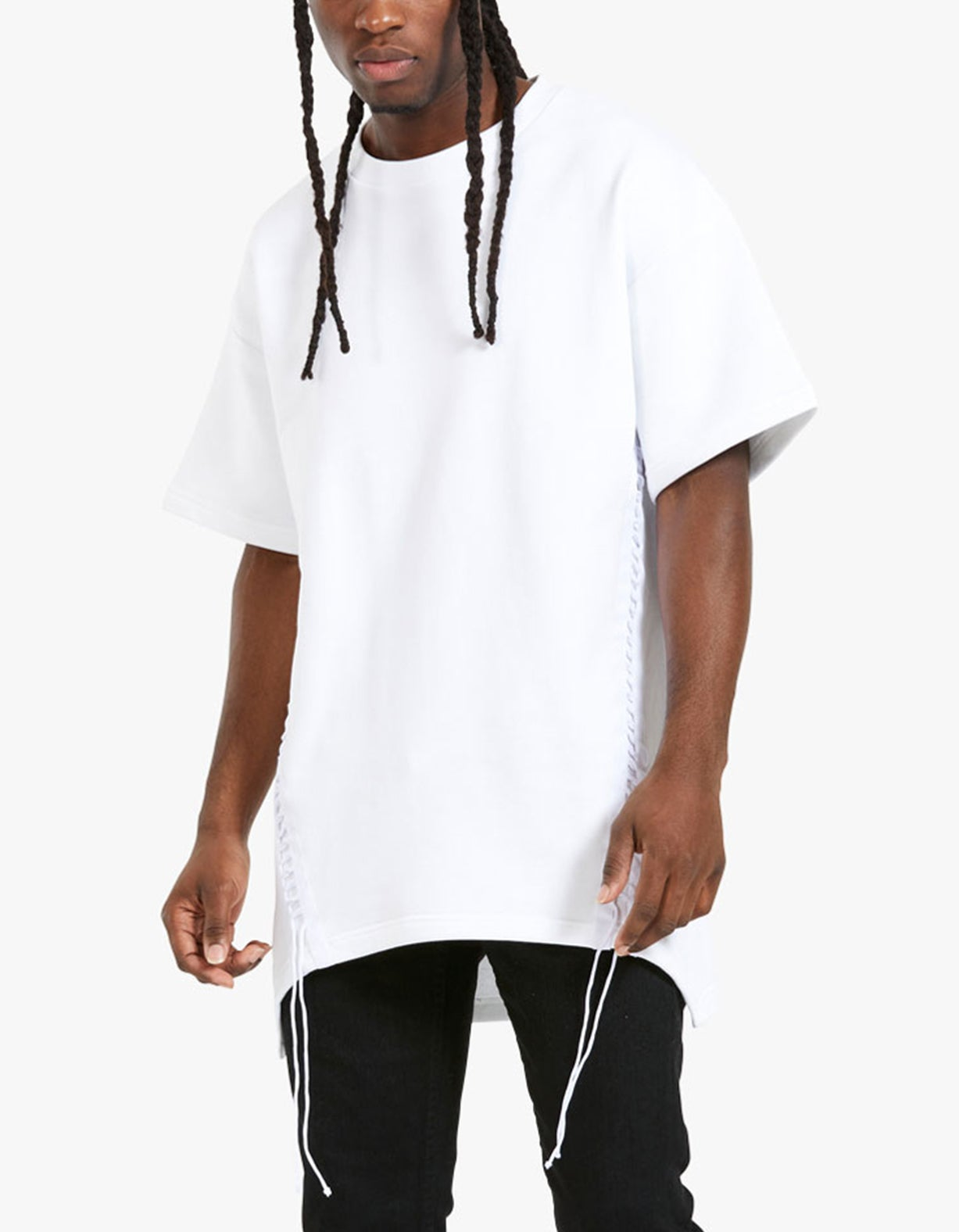 Loose Laced SS Crew - White
