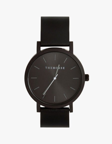 The Black Out Watch - Black/Black Dial/Black Leather