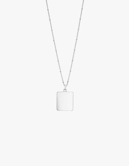 True North Coin Necklace - Sterling Silver