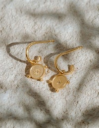 Voyager Coin Hoops - Gold Plated