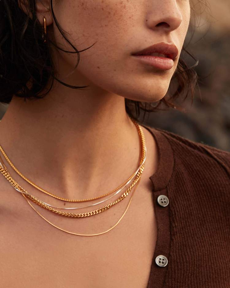 Intertwine Chain Necklace - Sterling Silver