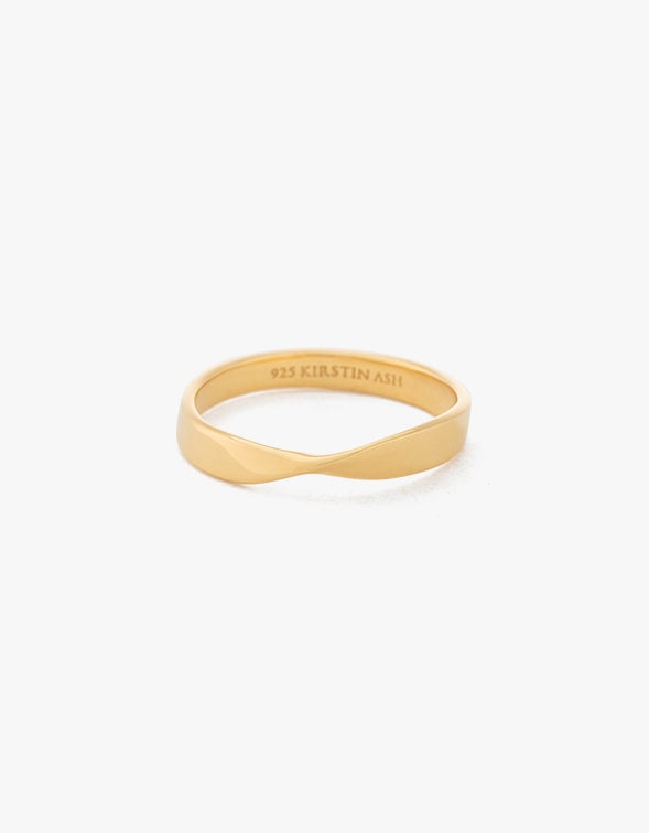 Fold Band Ring - 18K Gold Plated