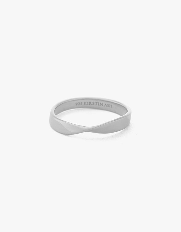 Fold Band Ring - Sterling Silver