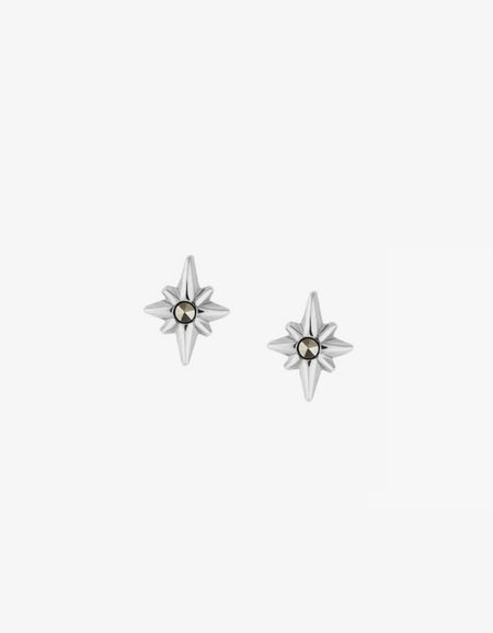 Pointed Star Studs - Silver