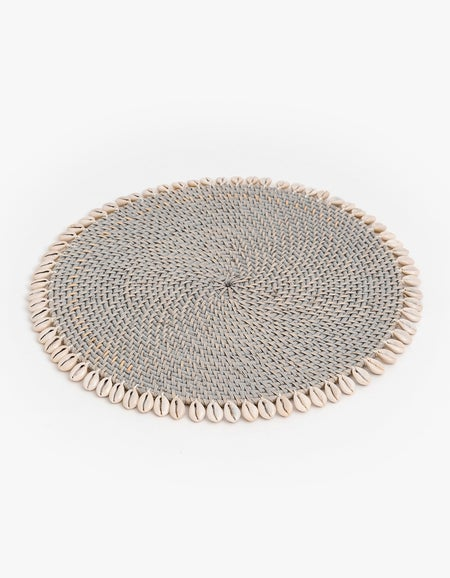 Shell Placemat - Grey