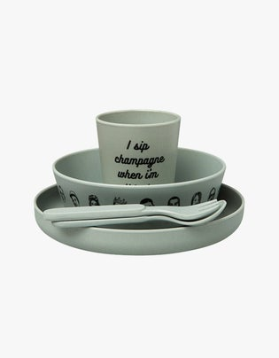 Eat Was All A Dream Bamboo Dinner Set