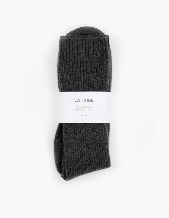 Cashmere Bed Socks - Charcoal