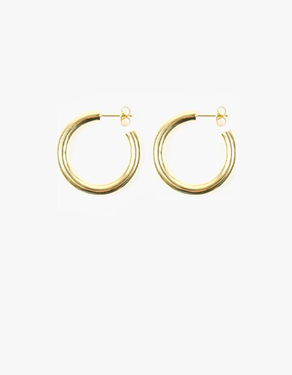 Classic Hoop Large - Gold Plated