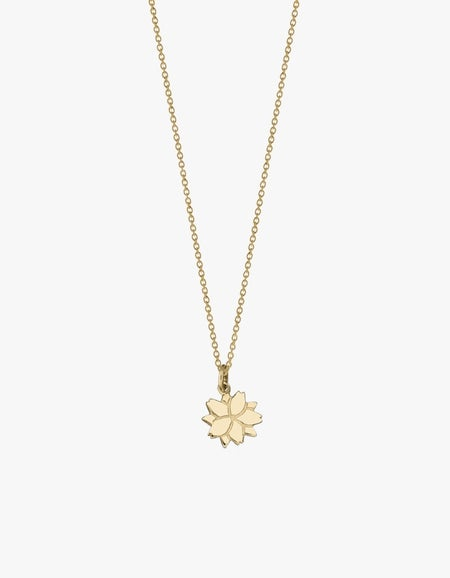 Cherry Blossom Charm Necklace - Gold Plated