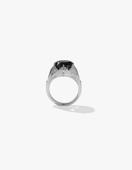 Aphrodite Cocktail Ring - Sterling Silver/Onyx