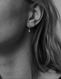 Micro Star Endless Hoops - Sterling Silver