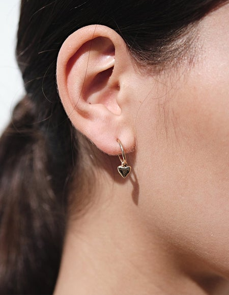 Camille Signature Hoop Earrings - Gold Plated