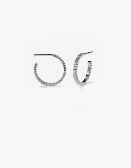 Solaire Hoops Medium - Sterling Silver